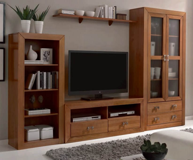 COLEFU Living Room Wall Unit Nogal Rooms
